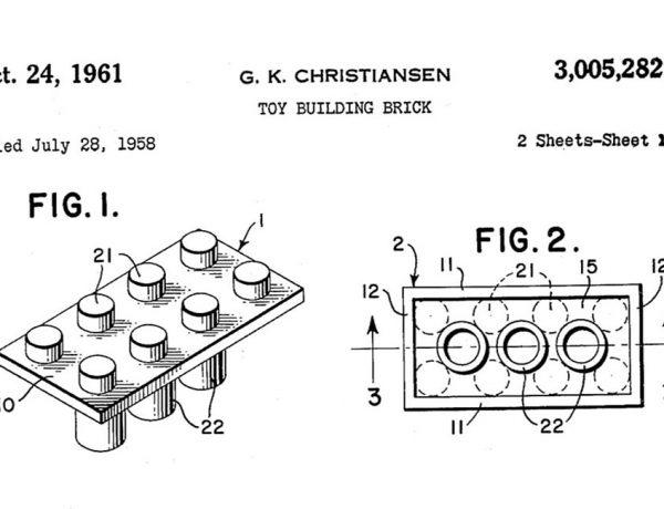 La patente original del ladrillo LEGO que revolucionó el mundo de los juguetes