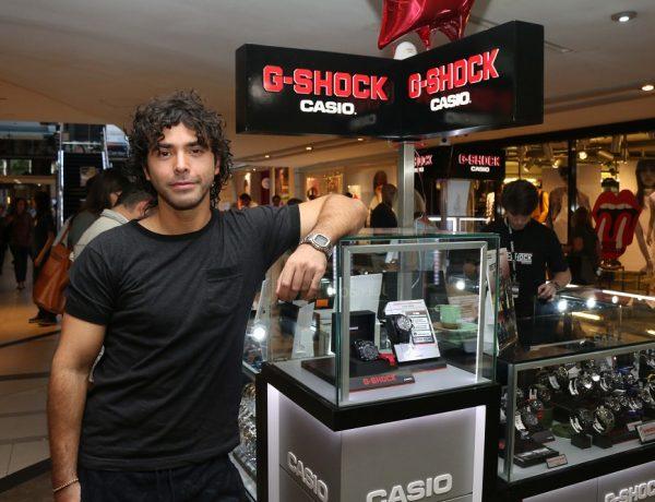 Nazareno Casero en la apertura del G-SHOCK Store en Alto Palermo