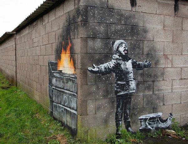 Un nuevo grafiti de Banksy