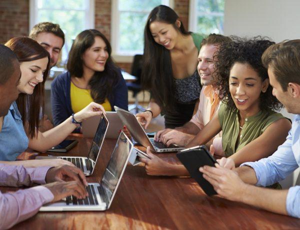Businessmen And Businesswomen Meeting To Discuss Creative Business Ideas