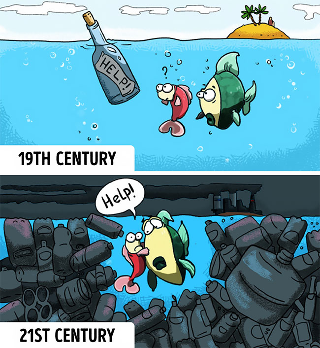 Ilustraciones que reflejan el mundo moderno (9)