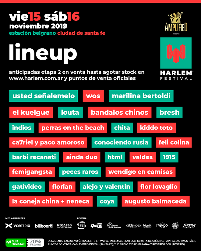 harlem festival line up
