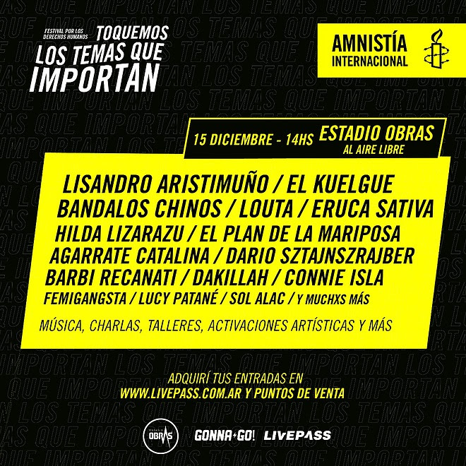 #LosTemasQueImportan, el festival de Amnistía Internacional en el Estadio Obras al aire libre (14)