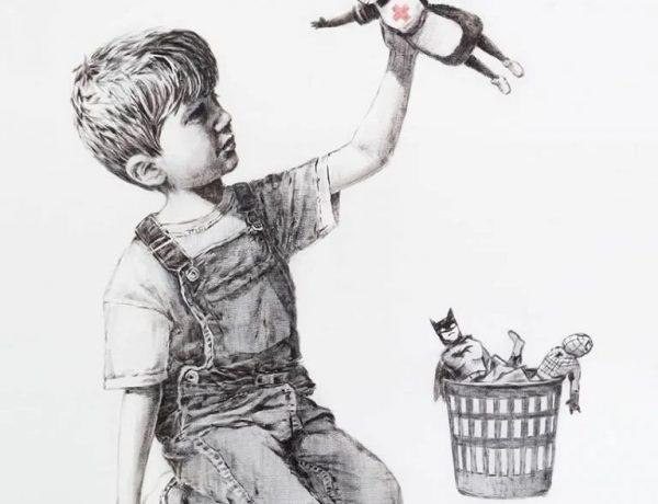Homenaje de Banksy al personal médico loqueva (1)