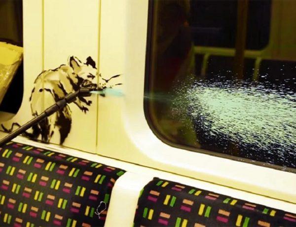 Banksy se metió en el subte de Londres para dar su mensaje por el Covid-19 (3)