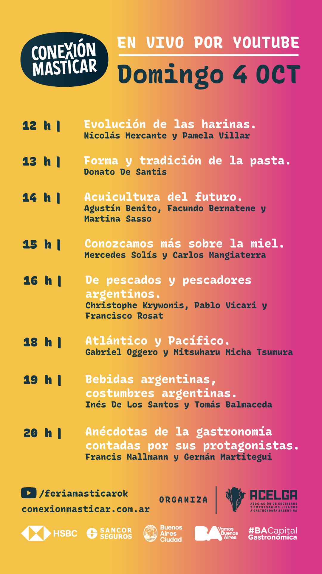Agendá Conexión Masticar 3 y 4 de octubre, estés donde estés (1)