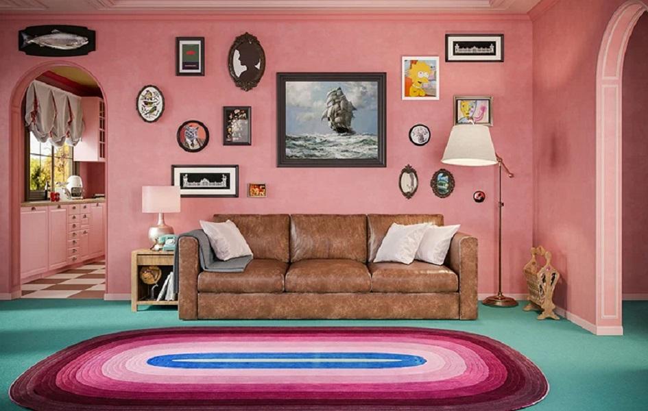 Las icónicas locaciones de Los Simpson al mejor estilo Wes Anderson (1)