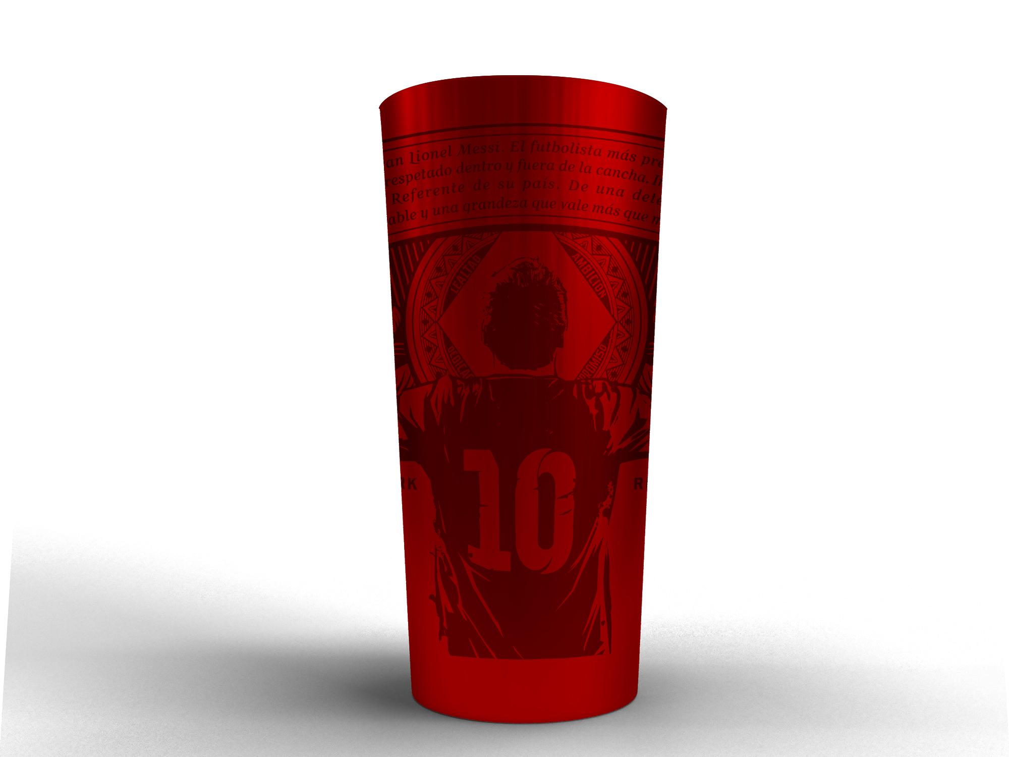 Budweiser lanza un vaso de colección homenaje a Lionel Messi (2)