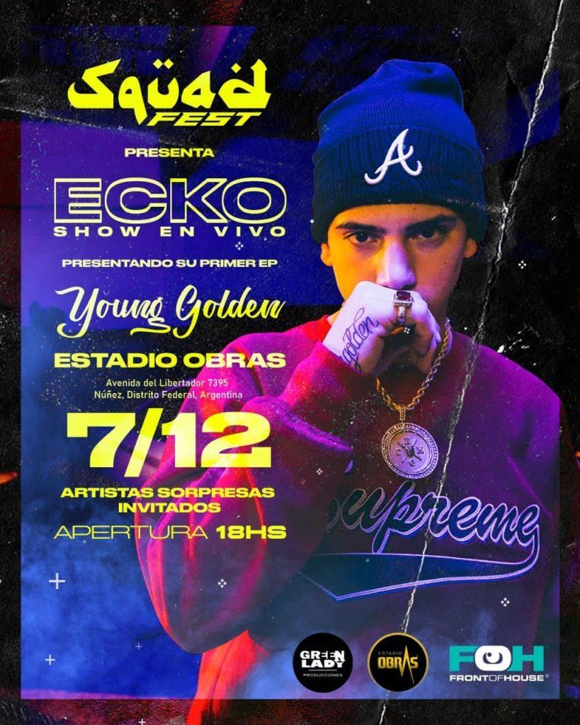 Ecko presenta Young Golden en el Estadio Obras, show en vivo y fuera de los autos